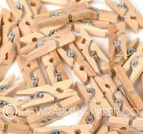 WOODEN MINI PEGS NATURAL