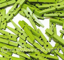 WOODEN MINI PEGS GREEN