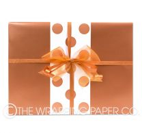 wrapping paper copper pearl