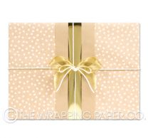 pebbles white kraft wrapping paper