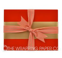 red gloss wrapping paper