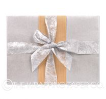 Silver kraft wrapping paper