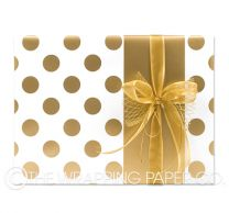 Large dot gold wrapping paper