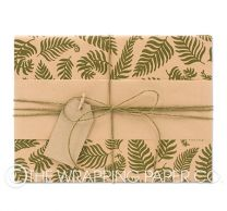 Forest ferns kraft wrapping paper