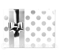 large silver dot wrapping paper