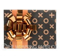 xox copper black kraft wrapping paper