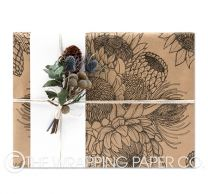Flower tribe kraft wrapping paper