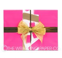 Bright pink wrapping paper