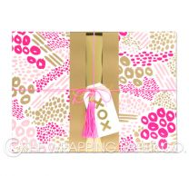 Cleo pink gold wrapping paper