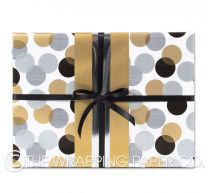 Feathers gold wrapping paper