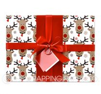 rudolph christmas wrapping paper