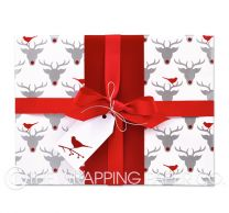 red nosed reindeer christmas wrapping paper