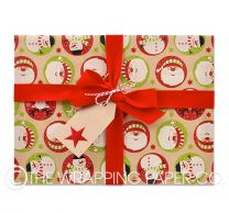 santa and friends christmas wrapping paper