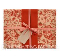 partridge and pear kraft christmas wrapping paper