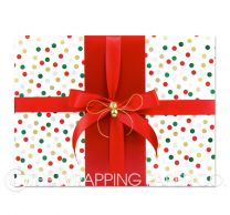 xmas confetti christmas wrapping paper