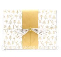 geo forest gold christmas wrapping paper