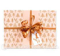 geo forest nude christmas wrapping paper