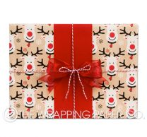 rudolph kraft christmas wrapping paper