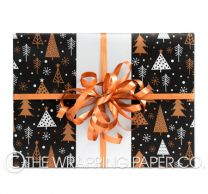 a most wonderful time midnight kraft christmas wrapping paper