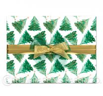 fir tree forest christmas wrapping paper