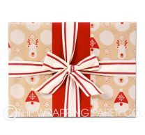 gingerbread lane christmas wrapping paper