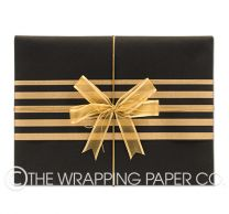 Matt black wrapping paper