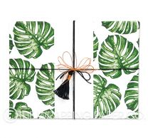 matt monstera leaf wrapping paper
