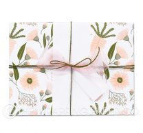Musk flora wrapping paper
