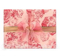 Vintage bloom rose matt wrapping paper