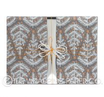 yuletide charcoal silver christmas wrapping paper