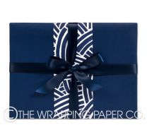 matt indigo wrapping paper