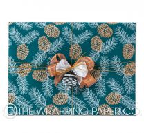 PINE CONES GREEN COUNTER ROLL