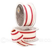 Calico red striped ribbon
