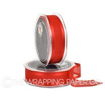 SATIN EDGE ORGANZA RED