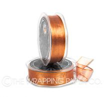 ORGANZA METALLIC WIRED EDGE COPPER