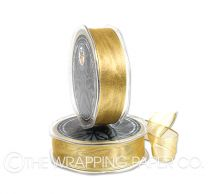 ORGANZA METALLIC WIRED EDGE GOLD