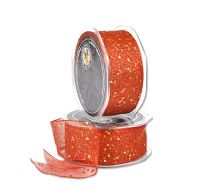 ORGANZA WIRE EDGE RED