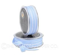 9 GROSGRAIN STRIPE  PALE BLUE