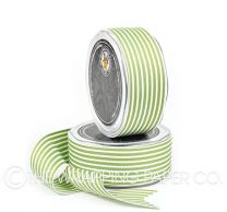 38 GROSGRAIN STRIPE  LIME