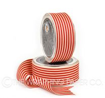 38 GROSGRAIN STRIPE  CREAM RED