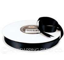 22X100M SATIN RIBBON BLACK