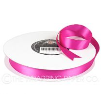 22X100M SATIN RIBBON HOT PINK