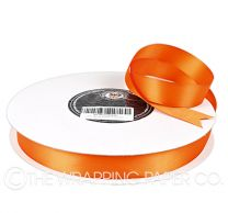 22X100M SATIN RIBBON TANGERINE