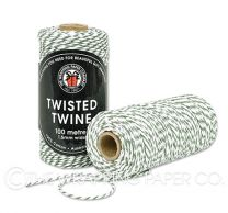 TWISTED TWINE GREEN WHITE