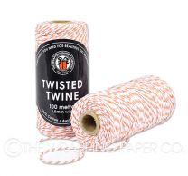 TWISTED TWINE PEACH & WHT