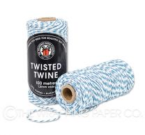 TWISTED TWINE TURQUOISE WHITE