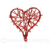 WIRE HEART RED