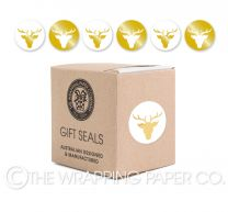 GOLD REINDEER HEAD SEAL