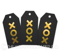 TAG FOIL BLACK XOX GOLD