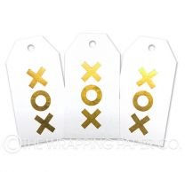 TAG FOIL WHITE XOX GOLD